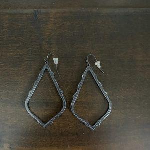 Sophee Drop Earrings In Gunmetal
